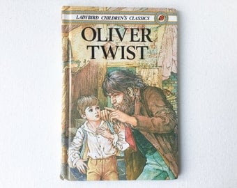 Vintage Oliver Twist Book, Ladybird Children's Classics, 1984 First Edition, Gloss Hardback, 00719