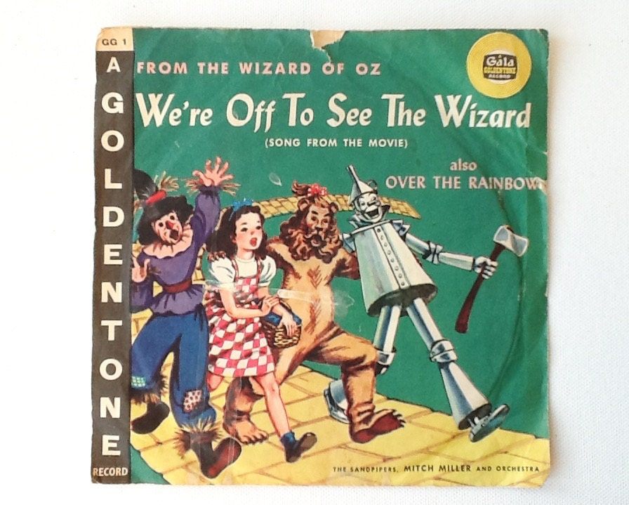 1960 Wizard Of Oz 78 Rpm Vinyl Record Gala Goldtone Records