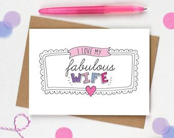 Funny birthday card Wife, Happy Birthday Wife, Wife Birthday card, Wife Anniversary card, Card for Wife, Wedding card Wife, I Love you card