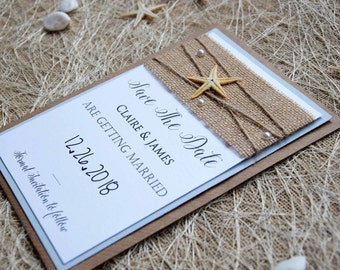 Destination Wedding Save The Dates, Beach Wedding Save The Dates, Save the Date Wedding Cards, Unique Save The Dates, Custom Save The Dates