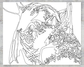 "Dicerorhinus Sumatrensis   Sumatran Series   8""x10"" Print"