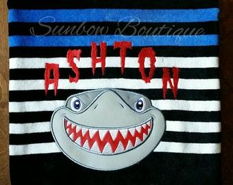 Shark towel, hooded towel, bath towel, pool towel, beach towel, jaws, personalized, monogrammed