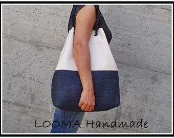 Burlap bag Canvas Beach Bag, Tote bag, Jute Bag, Shopping bag cotton handles Summer bag Beach bag beach bag Jute bag plain