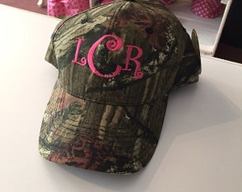 Monogrammed Camo Caps!  Super cute and trendy!