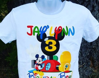 Mickey Mouse Club House Birthday T-shirt