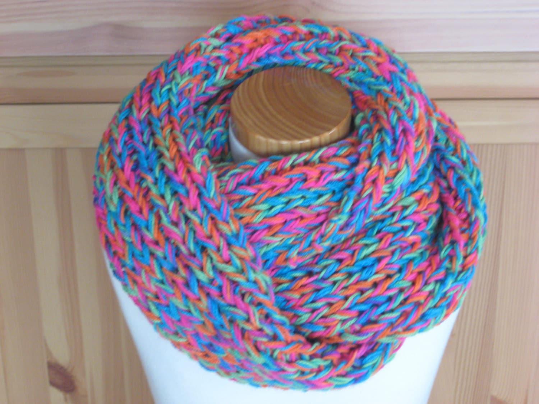 Infinity Scarf Knitting Pattern Size 13 Circular Needles : Knitting Pattern Infinity Scarf Hello Instant download pdf