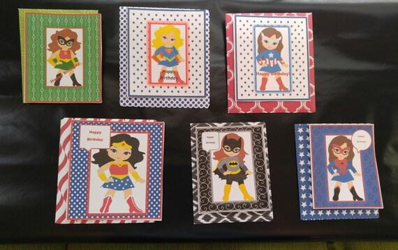 Super Girl Birthday Cards