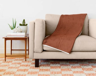 Burnt Orange Blanket, Burnt Orange Throw Blanket, Burnt Orange Fleece Blanket, Throw Blanket, Burnt Orange Baby Blanket