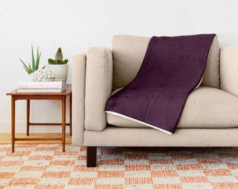 Eggplant Blanket, Eggplant Bedding, Eggplant Throw Blanket, Eggplant Fleece Blanket, Eggplant Throw Blanket, Eggplant Baby Blanket