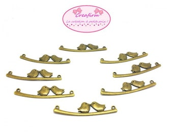 20 connectors Bronze 2 birds 53mm