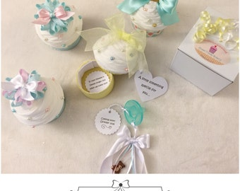 Pregnancy Reveal to Grandparents Announcement Cupcake Pregnancy Reveal for Family and Friends