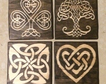 Celtic Knot Wood Plaque, Your Choice of Design