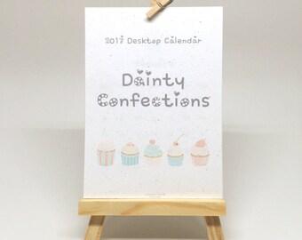 12-Month 2017 Desktop Calendar