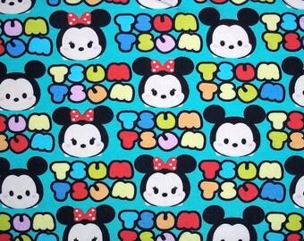 """Disney Tsum Tsum Baby Emoji Knit Fabric Mickey & Minnie 26"""" Bolt End"""