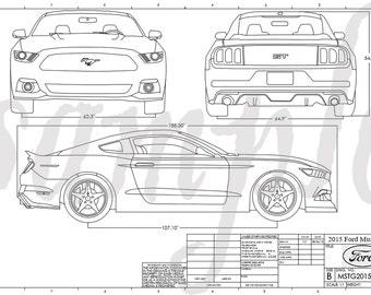 Mustang Engineering Drawing