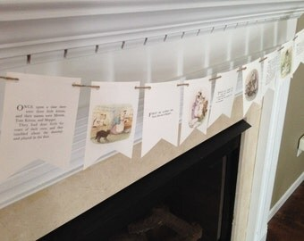 TOM KITTEN BOOK page banner sign garland Beatrix Potter