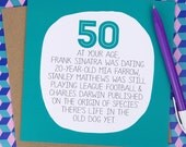 50th Birthday Card - At Your Age - Funny 50th Birthday card - Birthday Card 50 - 50th card - Fiftieth Birthday, Fifty