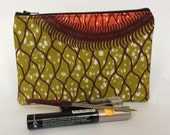 African Print Zipped Pouch
