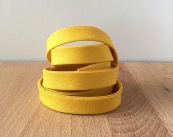 "Bias Tape- Kona Grellow 1/2"" double-fold cotton binding- Mustard yellow 3 yard roll"
