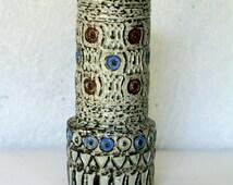 West Germany vase Spara 612/25 cm, vase Halidun Kutlu design, 60's, vintage industrial vase, German Ceramic vase Spara, Spara Keramik vase