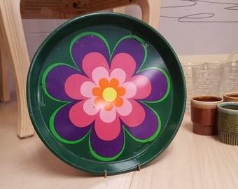 Flower Metal Tray