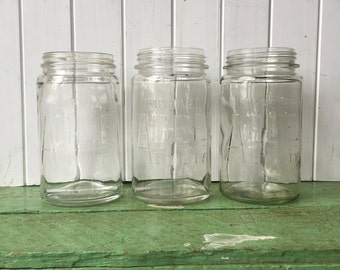 Vintage Agee glass preserving jars canning jars