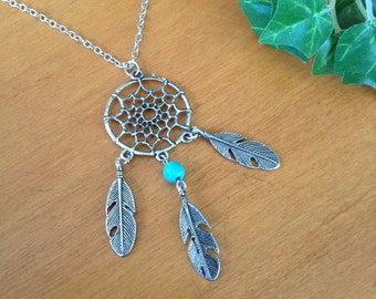 Once Upon A Time Emma And Neal Feathered  Dream Catcher Necklace