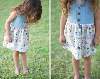 Summer Dress Soft Jean & with God's wonders words