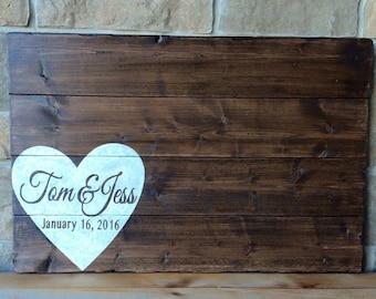 Wood Wedding Guest Sign, Wedding keepsake