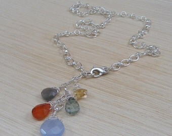 Multi-Gemstone Briolettes Necklace