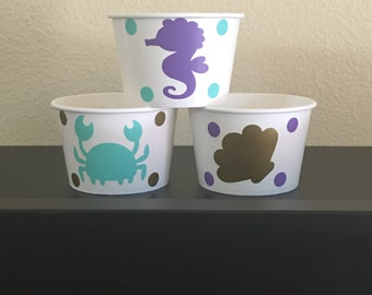 Mermaid Party snack cups