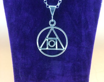 HandCrafted Alchemy Symbol, Hallmarked.