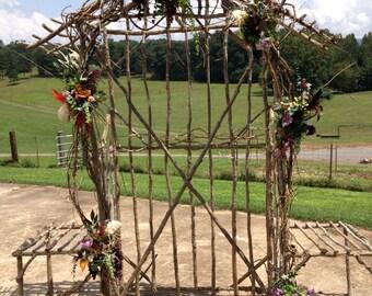 Sapling/Cedar Wedding Arbors