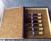 Livraison.US (tm) Wine Tasting Kit and Hand Sewn Journal with Exposed Spine
