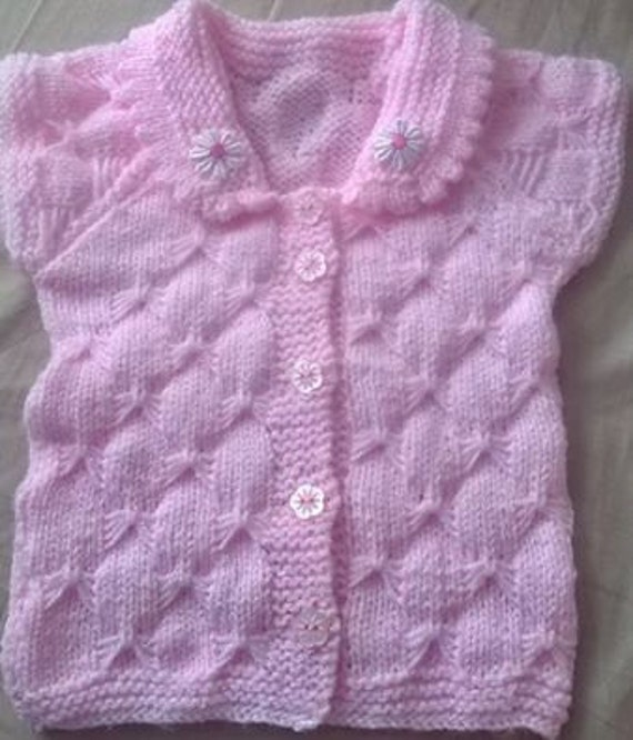 Baby knitting pattern Cap Sleeve Cardi