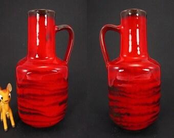 Vintage vase/jug made Gerhard Bauer | West German Pottery | 70s