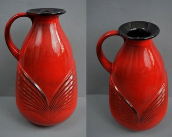 Rare vintage floor vase / Fohr / 436 40 | West Germany | WGP | 60s