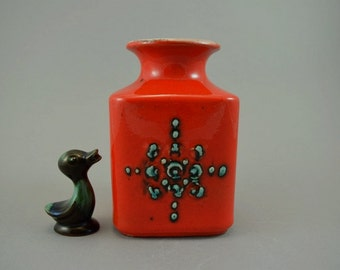 Vintage vase / Castens Tönnieshof / 7014 15 / red, green | West Germany | WGP | 70s