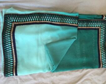 Sari - Beautiful Teal Ombre Sari