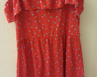 Bright 70s summer dress