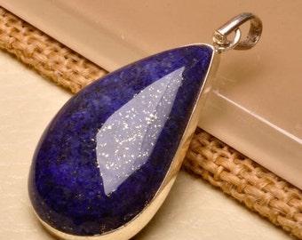 Lapis Lazuli sterling silver pendant   ( #J1537)