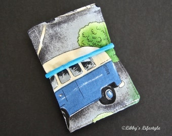 VW Kombi Camper credit card wallet. Handmade.
