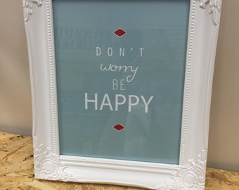 Don't worry 'Happy Notes' print