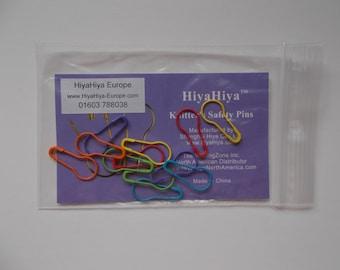 HiyaHiya knitters safety pins, round safety pins, knitting pins,12 pcs, bright colours
