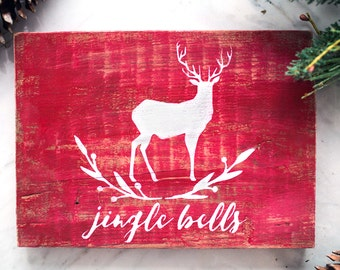 Painted Christmas Sign - Jingle Bells