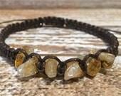 Citrine Quartz Bracelet / Raw Crystal Jewelry / Chakra Bracelet / Healing Crystal Jewelry / Healing Bracelet