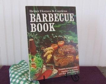 Better Homes & Gardens Barbecue Book, Vintage Cookbook, 1972