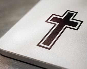 Cross Laptop Decal Sticker