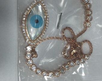 925k silver handmade evil eye bracelet