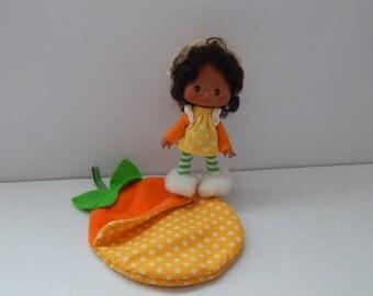 Vintage Strawberry Shortcake Sweet Sleeper Doll Orange Blossom Kenner 1980s